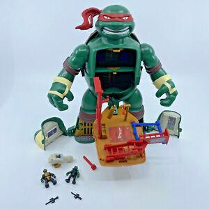 TMNT Micro Mutants Raph's Train & Battle Playset Playmates Teenage Mutant Turtle