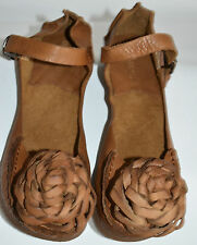 Fab de Oh So TRIPPEN tout cuir Quirky appliqué Shoes SZ 6 Euro 39 USA 8 Marron Clair