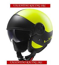 CASCO JET LS2 OF597 CABRIO VIA MATT AMARILLO BLACK EN FIBRA MIS. S 55/56 Cm