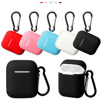 Silicone Rubber Case Protective Cover Skin For Apple AirPods 2nd Gen Earphones