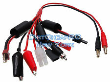 Multi Charge Leads Cable 4mm Bullet Deans Traxxas Tamiya Glow Plug Futaba Rx JST