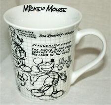 Walt Disney Mickey Mouse 90 Years Sketchbook Ceramic Mug Coffee Cup New