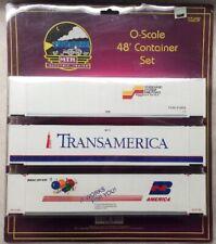 MTH O SCALE 48' CONTAINER SET SEABOARD TRANSAMERICA BN 🎈ANNIVERSARY🎈20-95039