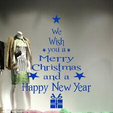 Árbol de Navidad presenta regalos ventana pared calcomanías 3D arte pegatinas