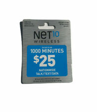 Net10 $25 Refill -- 1000 Minutes for 30 Days. Fast & Right Direct Refill