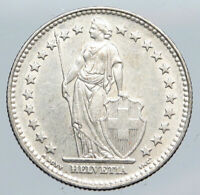 1932 SWITZERLAND -  HELVETIA Symbolizes SWISS Nation SILVER 2 Francs Coin i90474