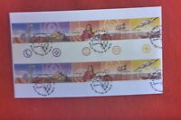 AUST 2001 OUTBACK SERVICES  GUTTER STRIP 10  FDC NATIONAL FDI  PICTORIAL PMK
