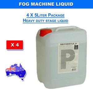 20L Smoke Machine Liquid Fluid Led and Laser Light 5Liter HEAVY DUTY MIST 4X5L