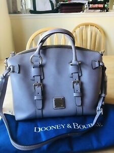 Dooney & Bourke Bristol Saffiano Domed Satchel Shoulder Bag Oyster Light Taupe