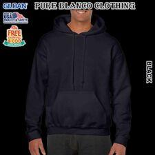 Sale Gildan Black Adult Pullover Hoodie Plain Hoodie Blank Hoodie