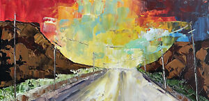 MARINA REHRMANN Original Impressionism Landscape Road Sunset Sunrise Mountains