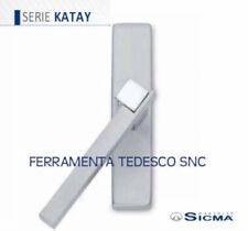 MANIGLIE FINESTRE CREMONESE CROMO SAT+CROM LUC SICMA KATAY C/PLACCA RETTANGOLARE