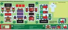 """Craft Panel """"Baby's First Train"""" RJR 100% Cotton Quilt Shop Fabric 24""""x56"""""""