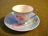 Occupied Japan Porcelain Tea Cup and Saucer Art Deco Style MB Mark, NICE SET