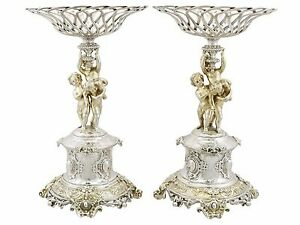 Victorian Sterling Silver Centerpieces, 1860s