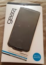 Gear 4 Negro de cuero con cierre magnético para iPhone 5 C J1006G (1st clase P + P)