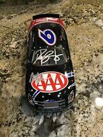RARE MARK MARTIN & DAVID RAGAN AUTOGRAPH / SIGNED NASCAR AAA DIECAST CAR 1:24