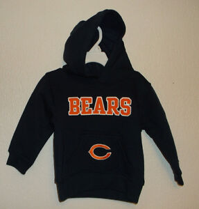 NFL Team Apparel Chicago Bears Hoodie Sweatshirt Choice 2T OR 18 Month NWT