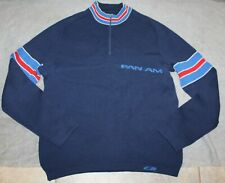 VINTAGE RARE PAN AM PILOTS SWEATER PULLOVER W/ZIPPER