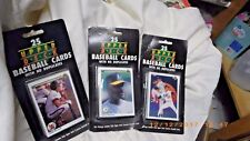 3 Unopened Factory Sealed 1990 Upper deck Packs of 25 NO Duplicates Factory seal