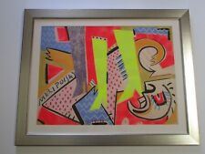 ANDRE MIRIPOLSKI PAINTING LARGE ABSTRACT CUBIST CUBISM EXPRESSIONISM VINTAGE