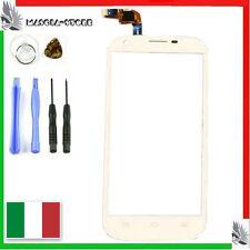 TOUCHSCREEN VETRO Per ZTE Blade Q MAXI Touch screen Ricambio per Display Bianco