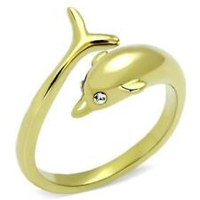 Yellow Gold Plated Band Animals & Insects Fashion Rings