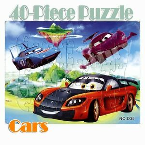 Hot New Disney 40 Pieces Cars Jigsaw Puzzle Best Gifts for Kids - 6#