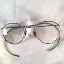 Vintage Antique Unmarked Rounded Eyeglass Full Rim Frame Flexible Ear Ful-Vuf-4