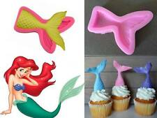 Mermaid Tail Silicone Candle Fondant Sugarcraft Ice Mould Novelty Baby Shower
