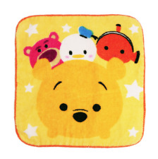 Disney TSUM TSUM Character Towel Cute Hand Face Winnie the Pooh Washcloth Yellow
