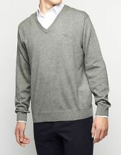 Gant Rugger 'Premium Cotton' Men's Ribbed V-Neck Sweater in Grey XLarge NWT $125