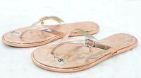 MICHAEL MICHAEL KORS Womens Sandals Sz 8 Metallic Synthetic Thong Flip Flops