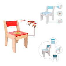 Kids Wooden Activity Learn Chairs Child Nursery Playroom Bedroom Chair Furniture