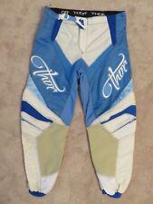 Used THOR Phase 2008 Racing PANTS Ladies 9/10 MX MotoCross Dirt Bike Blue White
