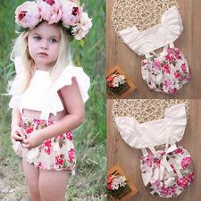 Cotton Toddler Baby Girls Bodysuit Kids Romper Jumpsuit Outfits Sunsuit Clothes