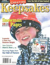 Creating Keepsakes Magazine Dec 2000/Jan 2001 Snowman  Pages Scrapbooking
