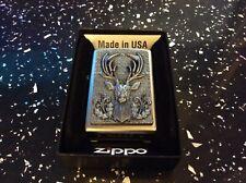 More details for     zippo lighter deer head   extremely rare lighter.
