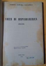 Voces de hispanoamerica (ensayos) - Josefina Guevara - 1969