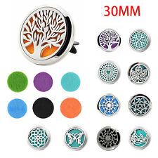 1 Pcs Stainless Car Air Vent Freshener Essential Oil Diffuser Locket 10 Style