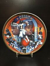 DEION SANDERS - ATLANTA FALCONS - COLLECTOR PLATE 4 IN - SPORTS IMPRESSIONS 1993