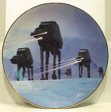 Vintage Star Wars Imperial Walker Ceramic Plate- First Series! Mint Boxed