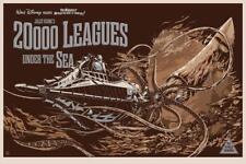 20,000 Leagues Under The Sea KEN TAYLOR SIDESHOW VARIANT GID Mondo Art Print
