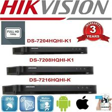 HIKVISION 4MP Turbo HD DVR 4/8/16CH 4MP HD 4K 4in1 HDTVI/AHD/CVI/CVBS/IP HDMI UK