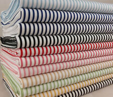 Unbranded Striped 100% Cotton Craft Fabrics