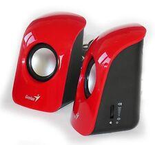 PC Lautsprecher Genius SP-U115 Rot USB 2.0 Stereo / Speaker Aktivboxen