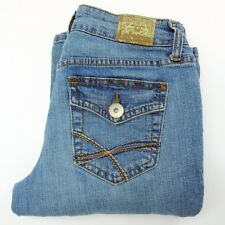 Lei Junior 3 Womens Chelsea Low Rise Bootcut Denim Blue Jeans Regular