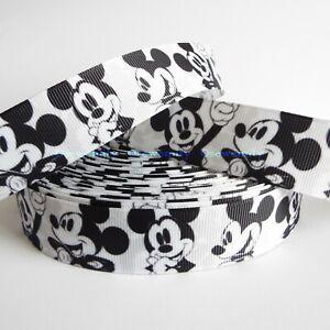 Per Metre - Mickey Mouse 25mm  - Printed Grosgrain Ribbon / Cake/ Hair Bow