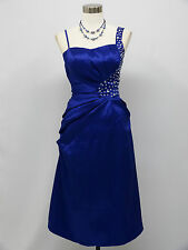 Cherlone Blue Prom Ball Evening Bridesmaid Wedding Formal Knee Length Dress 8-10