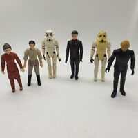 Vintage Star Wars Action Figure Lot of 6 - Luke Leia Stormtrooper Parts/Custom